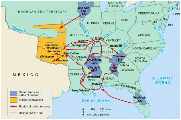 Land Takings By The United State - Us map 1814